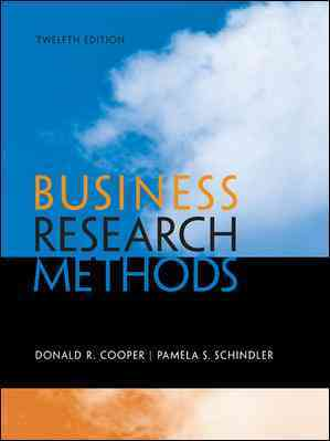 Business Research Methods By Cooper, Donald/ Schindler, Pamela